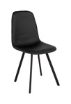 Flash Furniture Argos Contemporary Curved Back Black Vinyl Upholstered Dining Chair