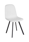 Flash Furniture Argos Contemporary Curved Back White Vinyl Upholstered Dining Chair