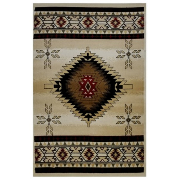 La Rugs Home Living Room Area Rug Multi-color Cosmos 2'x4'- 1305/04-0204