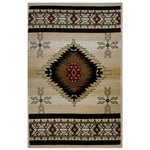 La Rugs Home Living Room Area Rug Multi-color Cosmos 4'x6'- 1305/04-0406
