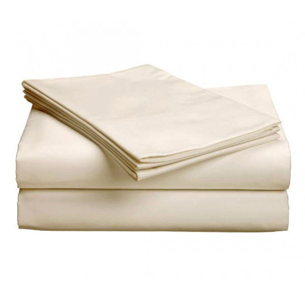 "Pure Collection-300ct 100% Egyptian Certified Organic Cotton Deep Profile Upto 18"" Pocket SheetSets Cal KingNatural"