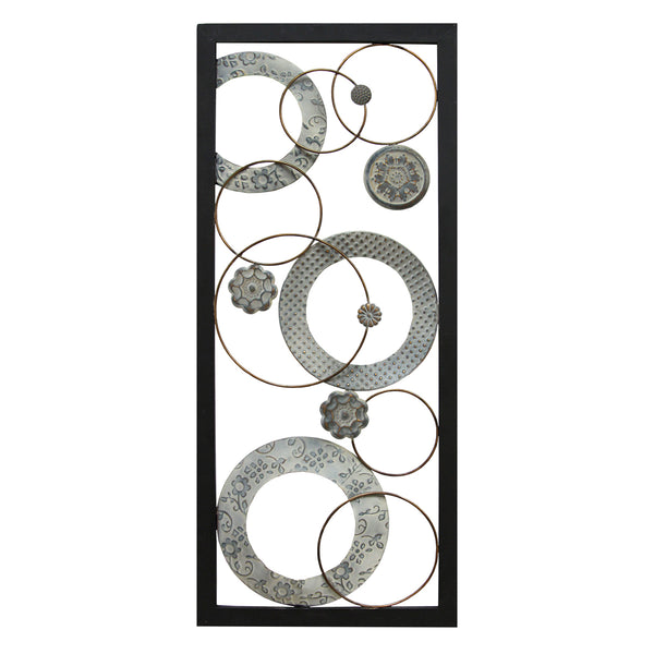 Stratton Home Decor Wall Hanging Stamped Circles Panel