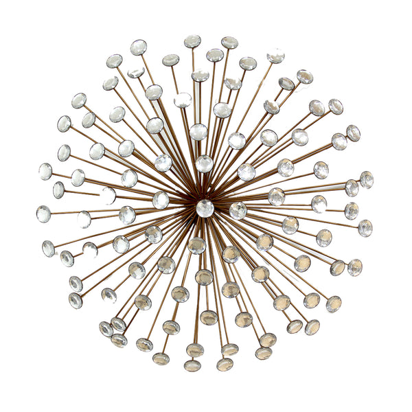 Stratton Home Decor Wall Hanging Bronze Acrylic Burst