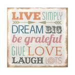 "Stratton Home Decor ""Love Simply"" Typography Burlap 16""H x 1.5""W x 16""D"