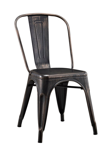 Stackable Metal Cafe Bistro Chair - Antique Black