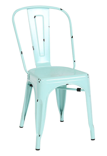 Stackable Metal Cafe Bistro Chair - Mint