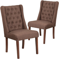 2 Pk. HERCULES Preston Series Tufted Parsons Chair