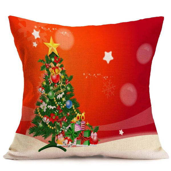 Merry Christmas decorative pillowcase throw pillow 2016 pillowcase Cartoon Smowman decorative throw pillow cover #XT