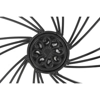 Benzara Decorative Metal Medallion Wall Decor,  Black