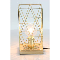 Charming metal wood golden accent lamp