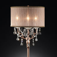 Cecelia Crystal Lamp With Antler Design Table Lamp
