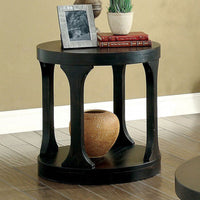 Carrie Transitional End Table, Antique Black