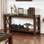 Rani Cayman Sofa Table Transitional Style, Brown Cherry Finish