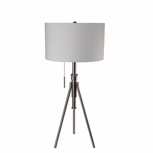 Zaya Contemporary Table Lamp, Brushed Steel
