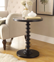 Astonishing Side Table With Round Top, Black