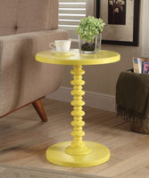 Astonishing Side Table With Round Top, Yellow