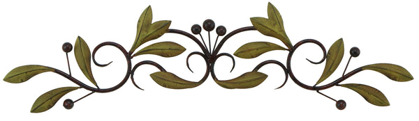30 Inch Metal Olive Branch Doortop Wall Hanging