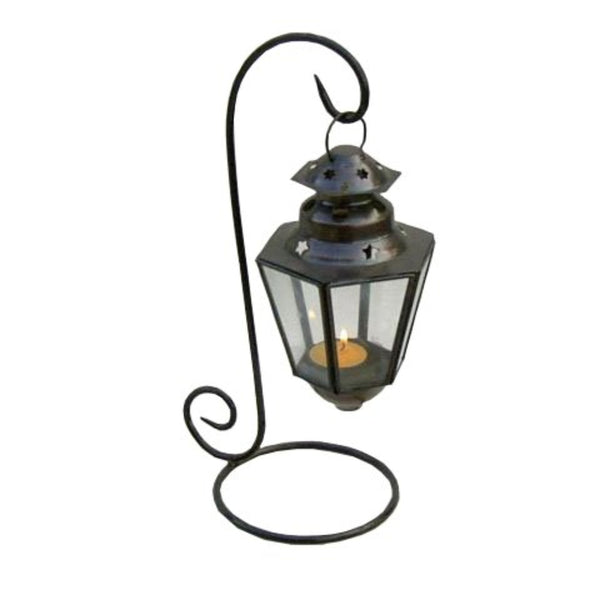 Southampton Artistic Ship Lantern With Decorative Sturdy Stand