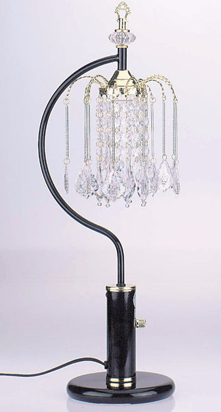 Chandelier Inspired Metal Table Lamp, Black