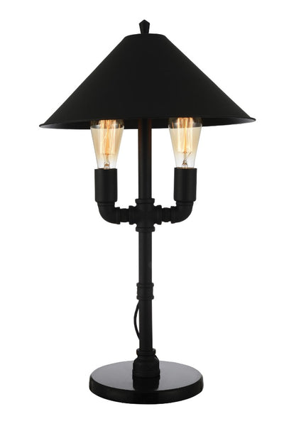 Alluring Contemporary Metal Table Lamp, Black