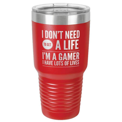 "Bella Fields - ""I'm a Gamer"" Premium Laser Etched 30 oz Tumbler"