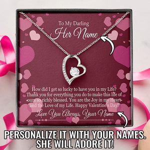 Bella Fields - Valentine's Day Forever Love Necklace and Personalized Message Card