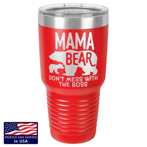"Image of Bella Fields - ""Mama Bear"" Premium Laser Etched 30 oz Tumbler"