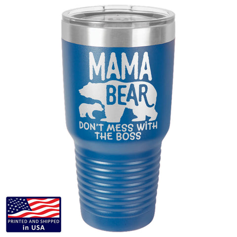 "Bella Fields - ""Mama Bear"" Premium Laser Etched 30 oz Tumbler"