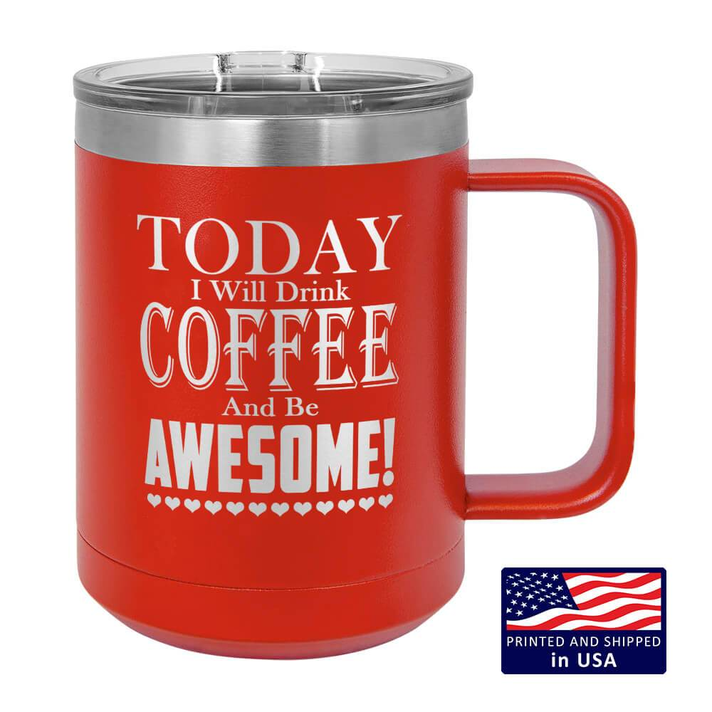 "Bella Fields - ""Be Awesome"" Premium Laser Etched Mug Tumblers"