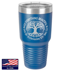 "Bella Fields - ""Tree of Life"" Premium Laser Etched 30 oz Tumbler"