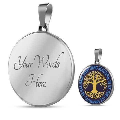 "Bella Fields - ""Tree of Life"" Luxury Necklace in Midnight Blue"