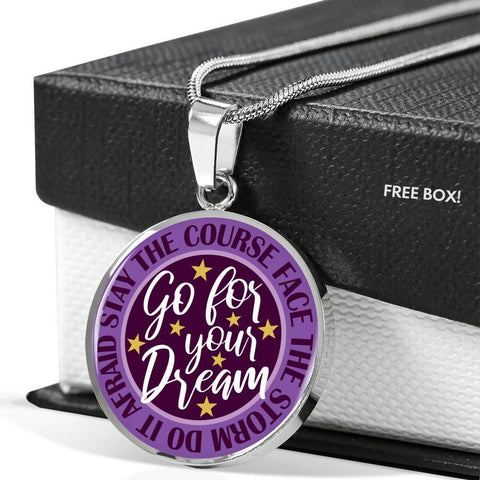 "Bella Fields - ""Go For Your Dream"" Luxury Necklace in Royal Purple"