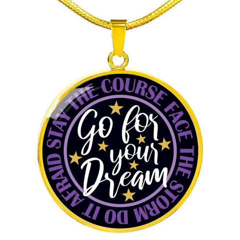"Bella Fields - ""Go For Your Dream"" Luxury Necklace in Midnight Black"