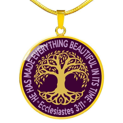 "Bella Fields - ""Tree of Life"" Luxury Necklace in Royal Purple"