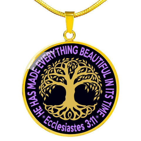 "Bella Fields - ""Tree of Life"" Luxury Necklace in Midnight Black"