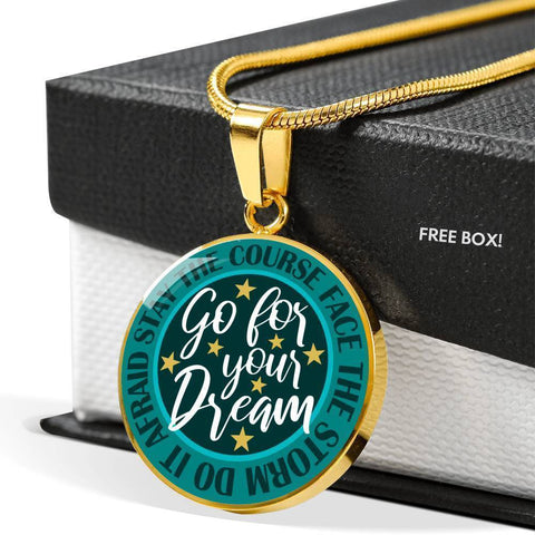 "Bella Fields - ""Go For Your Dream"" Luxury Necklace in Teal Green"