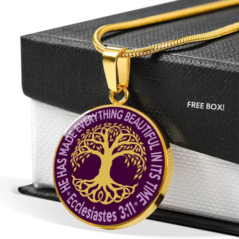"Image of Bella Fields - ""Tree of Life"" Luxury Necklace in Royal Purple"