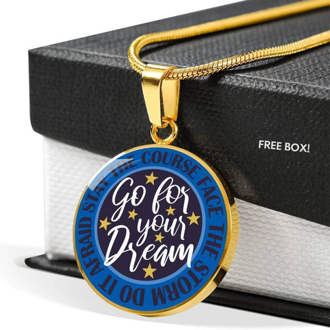 "Bella Fields - ""Go For Your Dream"" Luxury Necklace in Sapphire Blue"