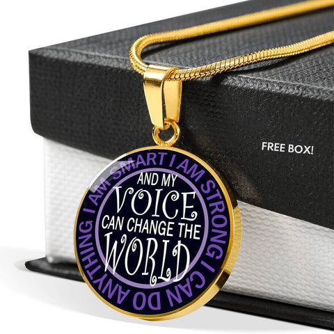 "Bella Fields - ""I Can Change the World"" Luxury Necklace in Midnight Black"