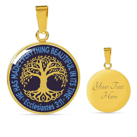 "Image of Bella Fields - ""Tree of Life"" Luxury Necklace in Midnight Blue"