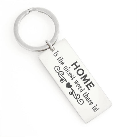 "Bella Fields - ""The Nicest Word"" Luxury Personalized Key Ring"