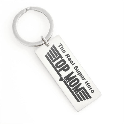 "Image of Bella Fields - ""Top Mom"" Luxury Personalized Key Ring"