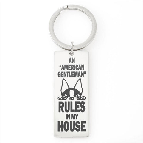 "Bella Fields - ""An American Gentleman"" Luxury Personalized Key Ring"
