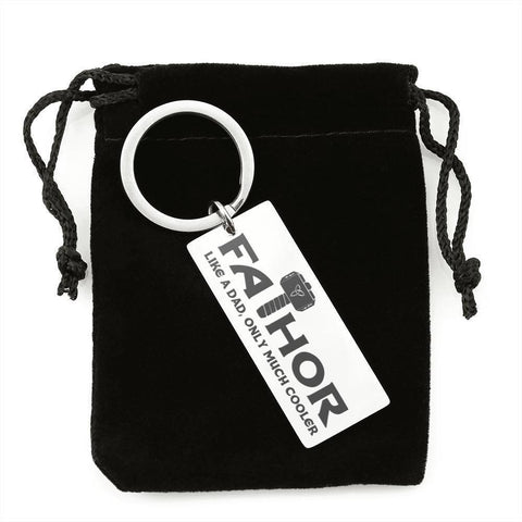 "Bella Fields - ""Fathor"" Luxury Personalized Key Ring"