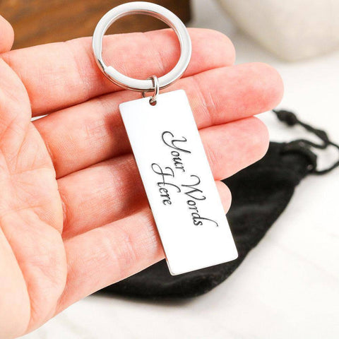 "Image of Bella Fields - ""Work Hard Be Nice"" Luxury Personalized Key Ring"