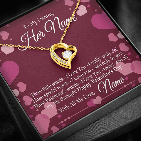 "Bella Fields - ""Forever Love"" Valentine's Necklace and Personalized Message Card"