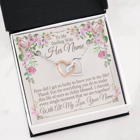 "Bella Fields - ""How Did I Get So Lucky"" Luxury Necklace and Personalized Message Card"