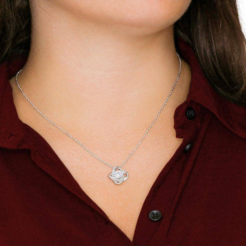 "Image of ""How Did I Get So Lucky"" Luxury Personalized Love Knot Necklace"