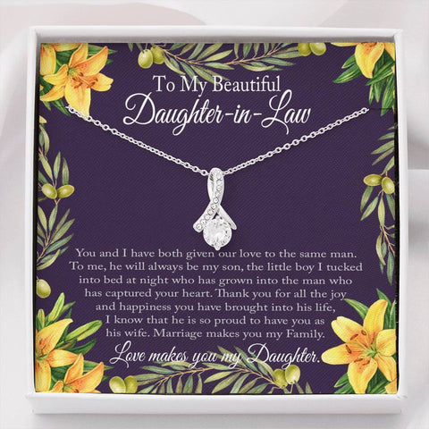 "Image of Bella Fields - ""To My Beautiful Daughter-in-Law"" Luxury Necklace and Message Card"