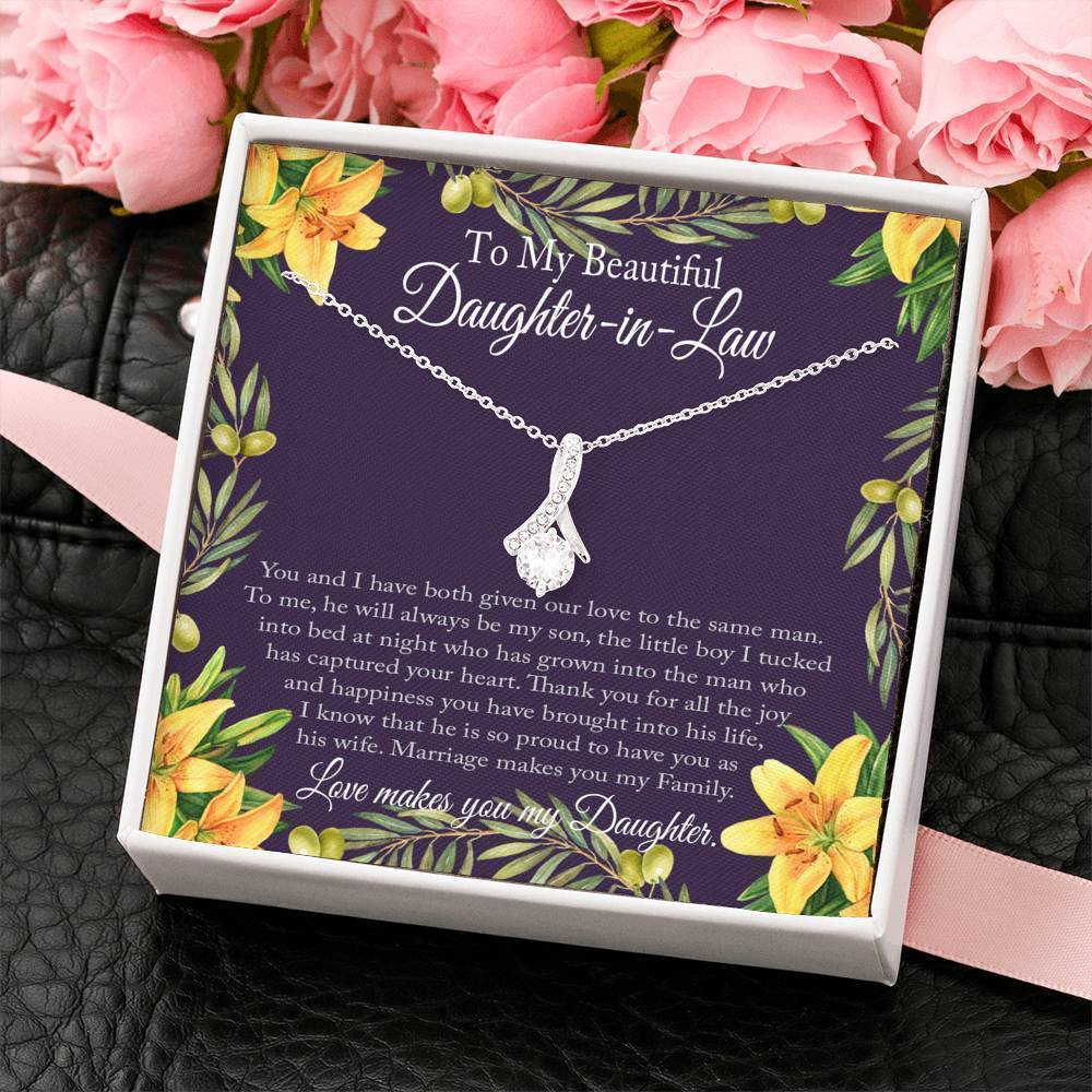 "Bella Fields - ""To My Beautiful Daughter-in-Law"" Luxury Necklace and Message Card"